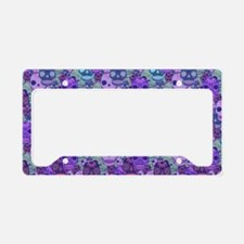 Purple Calavera License Plate Holder