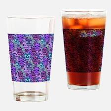 Purple Calavera Drinking Glass