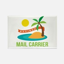 Retired Mail Carrier Rectangle Magnet