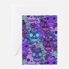 Purple Calavera Greeting Card