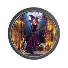 Halloween Witch Wall Clock