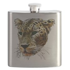 Cat Leopard Head Flask