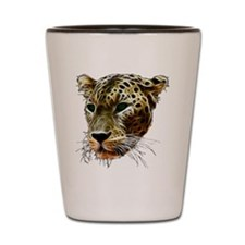 Cat Leopard Head Shot Glass