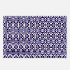 Elegant Vintage Blue Postcards (Package of 8)