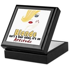 Blonde is an Attitude Keepsake Box