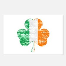 Vintage Irish Flag Shamrock Postcards (Package of