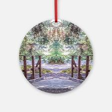 Optical Illusion - Come Closer, But Round Ornament