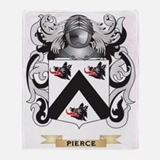 Pierce Coat of Arms (Family Crest) Throw Blanket