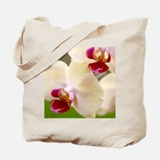 White and Pink Orchids Tote Bag