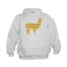 Plaid Alpaca Hoodie