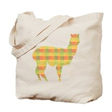 Plaid Alpaca Tote Bag