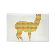 Plaid Alpaca Rectangle Magnet