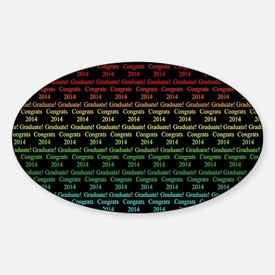 Congrats 2014 Graduate - Pillowcase Sticker (Oval)