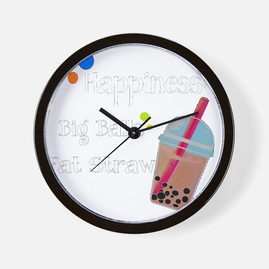 Bubble Tea, Happiness: Big Balls  A Fat Wall Clock