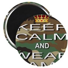 Keep Calm and Wear Camo Magnet
