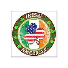 "Irish American Square Sticker 3"" x 3"""