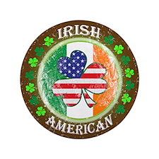 "Irish American 3.5"" Button"