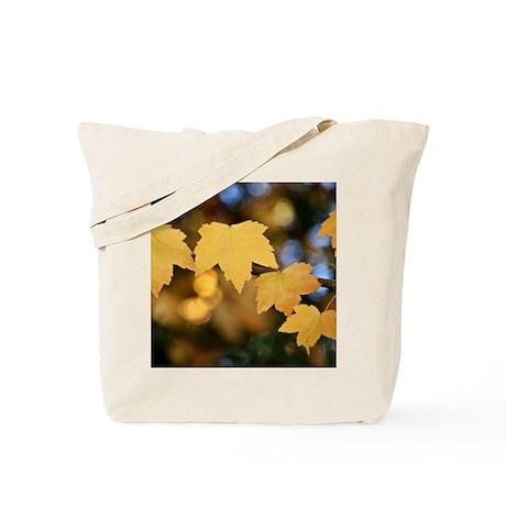 Yellow Fall Leaves Tote Bag