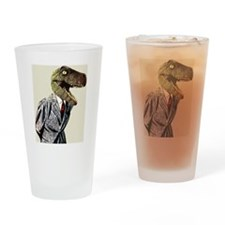 T-Rex Business Man Drinking Glass