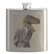 T-Rex Business Man Flask