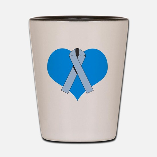 Scleroderma Heart Shot Glass