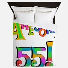 Awesome 55 Birthday Queen Duvet