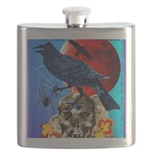 Black Raven-Red Moon-PosterP Flask