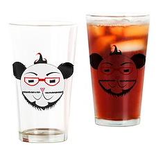 Retro Panda Drinking Glass