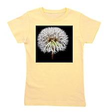 White Dandelion Flower Plant Girl's Tee