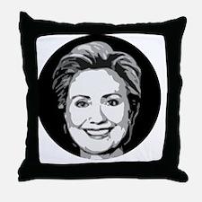 Hillary Face Throw Pillow