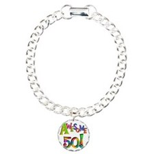 Awesome 50 Birthday Charm Bracelet, One Charm
