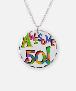 Awesome 50 Birthday Necklace