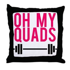 Oh My Quads Throw Pillow