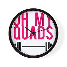 Oh My Quads Wall Clock