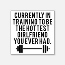 """Currently Training Square Sticker 3"""" x 3"""""""