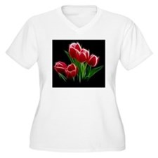 Tulip Flower Red  T-Shirt