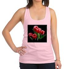 Tulip Flower Red Plant Racerback Tank Top
