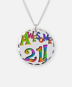 Awesome 21 Birthday Necklace