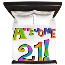 Awesome 21 Birthday King Duvet