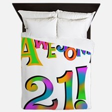 Awesome 21 Birthday Queen Duvet