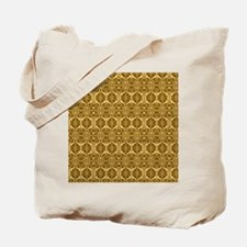 Elegant Brown and Gold Vintage Tote Bag