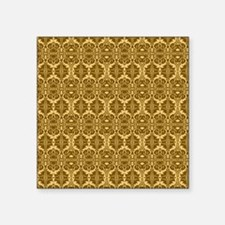 """Elegant Brown and Gold Vint Square Sticker 3"""" x 3"""""""