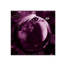 "christmas purple Square Sticker 3"" x 3"""