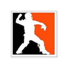 "BWO catcher 3-color on blac Square Sticker 3"" x 3"""
