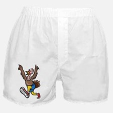 Turkey Run Runner Cartoon Isolated Boxer Shorts