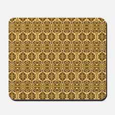 Elegant Brown and Gold Vintage Mousepad