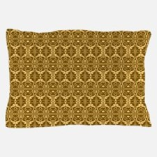 Elegant Brown and Gold Vintage Pillow Case