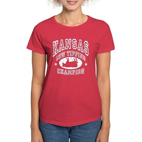 Kansas Cow Tipping Women's Dark T-Shirt