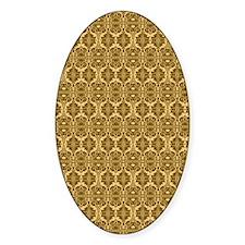 Elegant Vintage Gold and Brown Decal