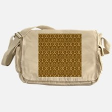 Elegant Vintage Gold and Brown Messenger Bag